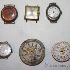 Recambios de relojes: RE168 LOTE DE 5 RELOJES Y UNA ESFERA PARA RECAMBIOS. DIVERSAS ÉPOCAS. Lote 36140829