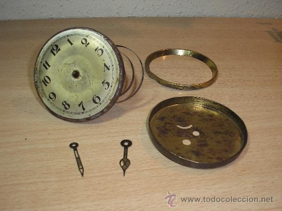 ANTIGUA MAQUINARIA COMPLETA DE RELOJ ART NOUVEAU DE ENCASTRAR PARA PIEZAS- AÑO 1910 (Relojes - Recambios)