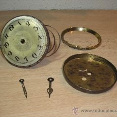 Recambios de relojes: ANTIGUA MAQUINARIA COMPLETA DE RELOJ ART NOUVEAU DE ENCASTRAR PARA PIEZAS- AÑO 1910. Lote 36674487