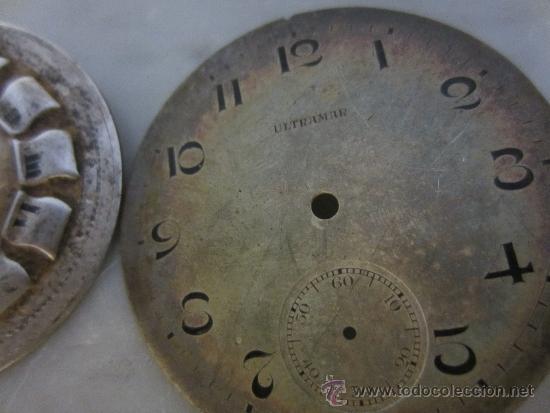 Recambios de relojes: dos esferas para reloj de bolsillo - Foto 3 - 37151236