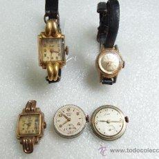 Recambios de relojes: LOTE DE MUY ANTIGUOS RELOJES DE DAMA - TODOS DE MARCA - 3 ENCHAPADOS - PARA REPARAR O LIMPIAR. Lote 37675457