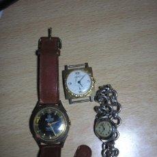 Recambios de relojes: 3 RELOJES PULSERA ANTIGUOS PARA RESTAURAR O PIEZAS. Lote 39258226