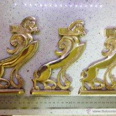 Recambios de relojes: X3 FIGURAS CABALLOS ALADOS EGIPCIOS EN BRONCE - MACIZOS - 1,5 KG.. Lote 39456213