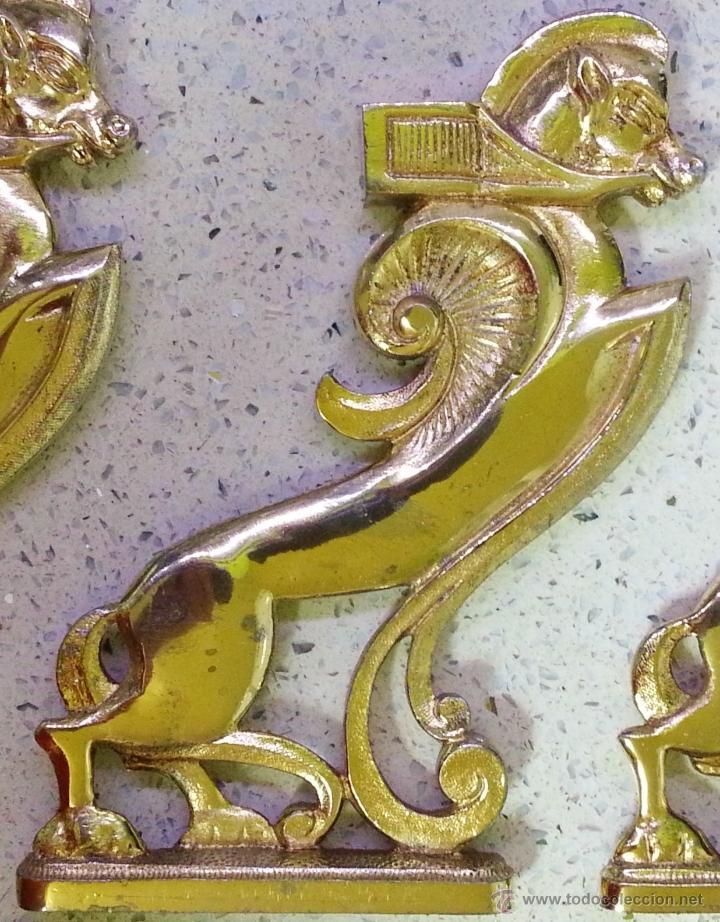 Recambios de relojes: x3 FIGURAS CABALLOS ALADOS EGIPCIOS EN BRONCE - MACIZOS - 1,5 KG. - Foto 2 - 39456213