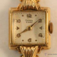 Recambios de relojes: ANTIGUO RELOJ DE SEÑORA CONTROL 15 RUBIES - CAJA CHAPADA EN ORO 20 MILÉSIMAS.. Lote 39697694