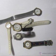 Recambios de relojes: LOTE DE 5 RELOJES DE PULSERA PARA REPARAR. Lote 39741889