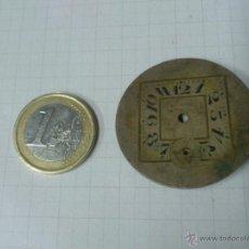 Recambios de relojes: ESFERA RELOJ DE BOLSILLO -- LATON - ART DECO. DE 37 MM. DE DIAMETRO. Lote 40723333