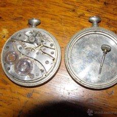 Recambios de relojes: MAQUINARIA DE ANTIGUO RELOJ DE BOLSILLO Y 2 CAJAS. Lote 40760332