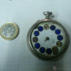 Recambios de relojes: DESPIECE - DESGUACE - CAJA RELOJ DE BOLSILLO FARO.REMONTOIR. DOBLE TAPA. Lote 40768132