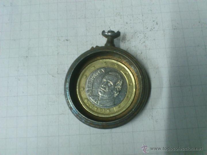 Recambios de relojes: CAJA RELOJ DE BOLSILLO DE HIERRO. SIN TAPA - Foto 2 - 40769301