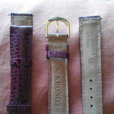 Recambios de relojes: 2 CORREAS KRONOS. Lote 42144915