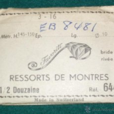 Recambios de relojes: MUELLES DE RELOJ - FAVORITE - SUIZA - 10 UNIDADES. Lote 42378749