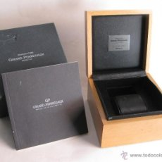 Recambios de relojes: CAJA O ESTUCHE DE RELOJ GIRARD PERREGAUX LAUREATO OLIMPICO CON CATALOGO - 2007. Lote 42766232