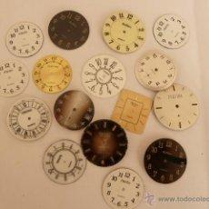 Recambios de relojes: LOTE DE 16 ESFERAS PARA RECAMBIOS DE RELOJ. Lote 42859858