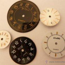 Recambios de relojes: 5 ESFERAS PARA TALLER DE RELOJERO. Lote 42860150