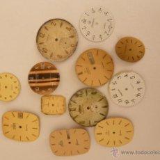 Recambios de relojes: 12 ESFERAS PARA TALLER DE RELOJERO. Lote 42860734