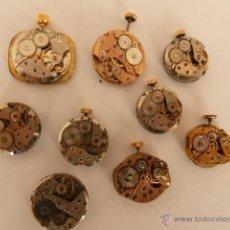 Recambios de relojes: LOTE DE 9 MECANISMO PARA RELOJ, A CUERDA.. Lote 42968328
