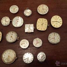 Recambios de relojes: LOTE DE MAQUINARIAS DE VARIAS MARCAS: CYMA , FESTINA , CERTINA , LONGINES ,ETC.... Lote 42977026