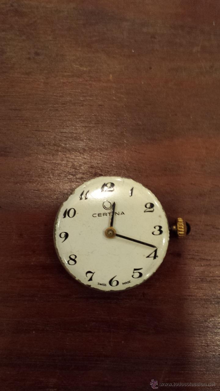 MAQUINARIA DE RELOJ MARCA CERTINA. FUNCIONA (Relojes - Recambios)