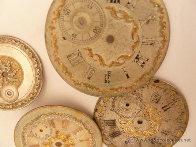 Recambios de relojes: LOTE DE 18 ESFERAS PARA RELOJ DE BOLSILLO - Foto 3 - 43068009