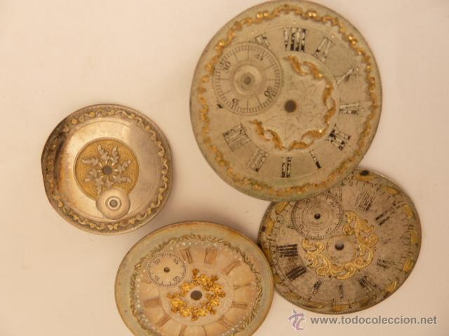 Recambios de relojes: LOTE DE 18 ESFERAS PARA RELOJ DE BOLSILLO - Foto 4 - 43068009