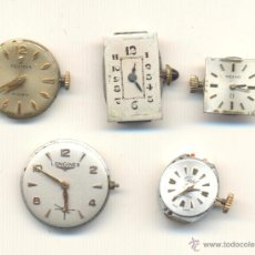 Recambios de relojes: CINCO MAQUINARIAS DE RELOJ. A CLASIFICAR. FESTINA OMEGA LONGINES ETC... Lote 43477165