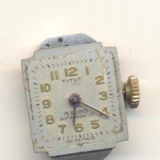 Recambios de relojes: MAQUINARIA RELOJ TITUS SEÑORA FUNCIONANDO. Lote 43477753