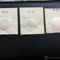 Recambios de relojes: 3 CRISTALES PARA RELOJ. Lote 43676035