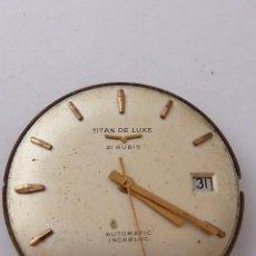 Recambios de relojes: MECANISMO PARA RELOJ AUTOMATICO TITAN DE LUXE. Lote 43800572