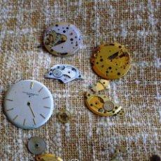 Recambios de relojes: BAUME & MERCIER LOTE DE 2 MOVIMIENTOS, VARIAS PARTES DE MOVIMIENTOS, PIEZAS, 1 ESFERA Y TORNILLERÍA. Lote 44231655