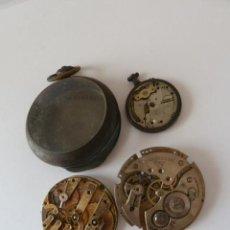 Recambios de relojes: LOTE DE TRES MECANISMOS RELOJ DE BOLSILLO . Lote 44979624