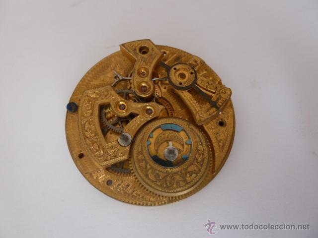 Para BolsilloGrabado Artístico De BurilDiametro 47´7mm Mecanismo Reloj A WDH2E9I