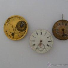 Recambios de relojes: LOTE DE 3 RECAMBIOS PARA RELOJ DE BOLSILLO. Lote 45092981