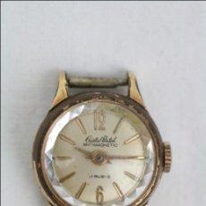 Recambios de relojes: CAJA DE RELOJ DE PULSERA CRISTAL WATCH - MANUAL. PIEZAS O RESTAURACIÓN - DORADO - CAJA 17 MM DIÁM. Lote 45148962