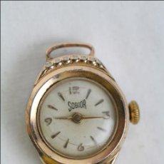Recambios de relojes: CAJA DE RELOJ DE PULSERA SOBIOR - MANUAL. PIEZAS O RESTAURACIÓN - DORADO - CAJA 17 MM DIÁM. Lote 45148984