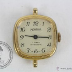 Recambios de relojes: CAJA DE RELOJ DE PULSERA MORTIMA - MANUAL. PIEZAS O RESTAURACIÓN - DORADO - CAJA 20 X 20 MM. Lote 45149009