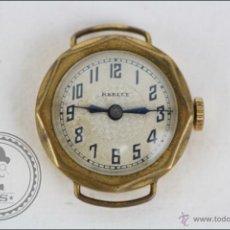 Recambios de relojes: CAJA DE RELOJ DE PULSERA REELLE - MANUAL. PIEZAS O RESTAURACIÓN - CHAPADO EN ORO - CAJA 23 X 23 MM. Lote 45149076