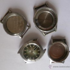 Recambios de relojes: LOTE 4 CAJAS PARA RELOJ VINTAGE, REFERENCIAS FHF 70, NS 6105,LORSA 238, DUNCAN. Lote 45290022