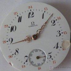 Recambios de relojes: MECANISMO PARA RELOJ DE BOLSILLO, OMEGA, DIÁMETRO 40´5MM, FUNCIONANDO. Lote 45461120