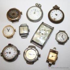 Recambios de relojes: RE254 LOTE DE 10 RELOJES DE MUJER - DIFERENTES TIPOS Y MATERIALES - PARA REPARAR O RECAMBIOS. Lote 45639581