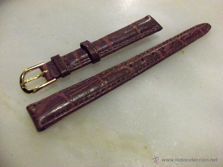 Recambios de relojes: Lote de 13 correas de cuero genuino para relojes de dama - A estrenar - No se lo pierda ! - Foto 2 - 46007412