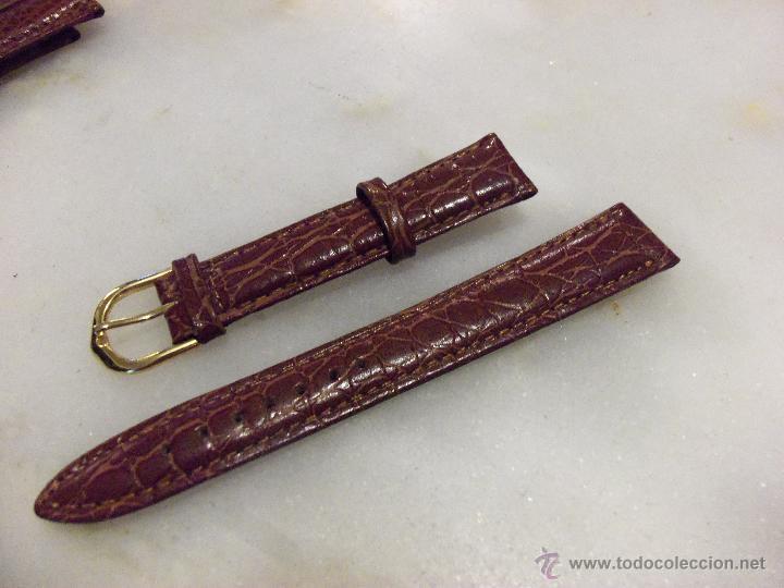 Recambios de relojes: Lote de 13 correas de cuero genuino para relojes de dama - A estrenar - No se lo pierda ! - Foto 3 - 46007412