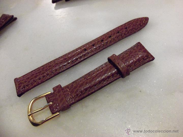 Recambios de relojes: Lote de 13 correas de cuero genuino para relojes de dama - A estrenar - No se lo pierda ! - Foto 5 - 46007412