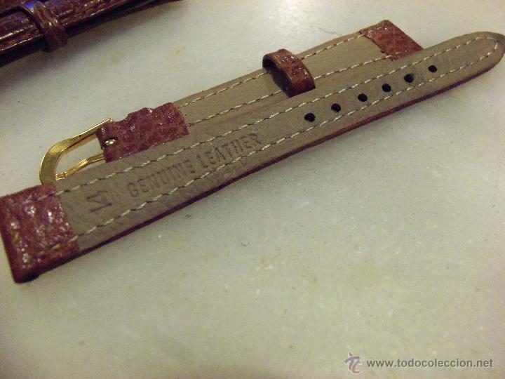 Recambios de relojes: Lote de 13 correas de cuero genuino para relojes de dama - A estrenar - No se lo pierda ! - Foto 6 - 46007412