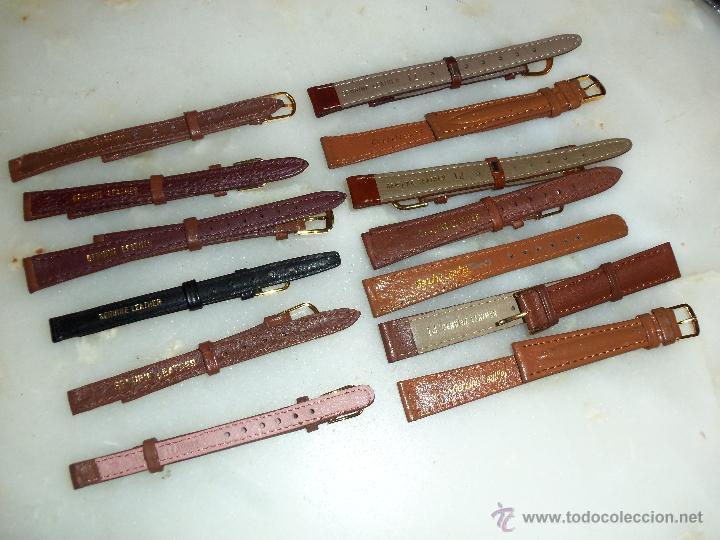 Recambios de relojes: Lote de 13 correas de cuero genuino para relojes de dama - A estrenar - No se lo pierda ! - Foto 7 - 46007412