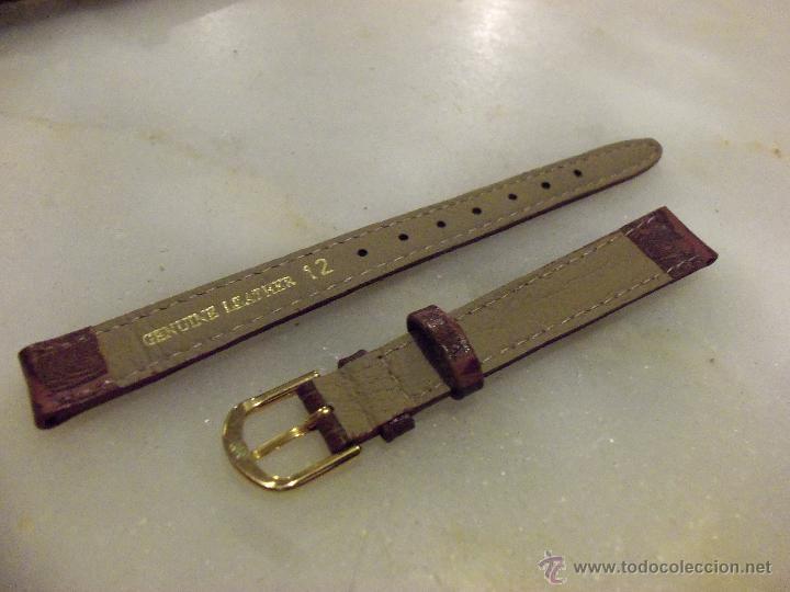 Recambios de relojes: Lote de 13 correas de cuero genuino para relojes de dama - A estrenar - No se lo pierda ! - Foto 8 - 46007412