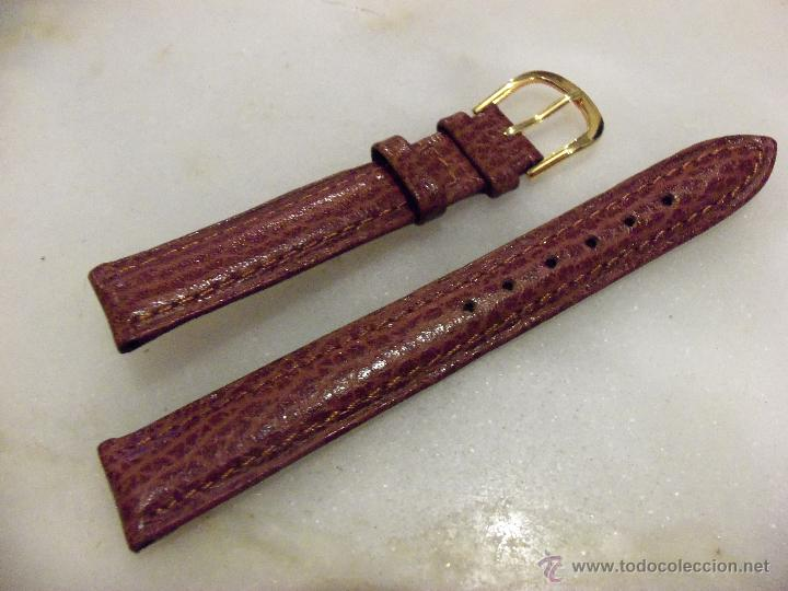 Recambios de relojes: Lote de 13 correas de cuero genuino para relojes de dama - A estrenar - No se lo pierda ! - Foto 10 - 46007412
