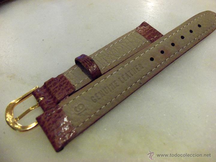 Recambios de relojes: Lote de 13 correas de cuero genuino para relojes de dama - A estrenar - No se lo pierda ! - Foto 11 - 46007412
