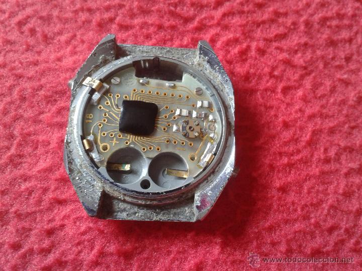 Recambios de relojes: ANTIGUA CAJA RELOJ DIGITAL COSMOTRON QUARTZ CON PLACA ELECTRONICA VER FOTOS Y DESCRIPCION. - Foto 2 - 46153163
