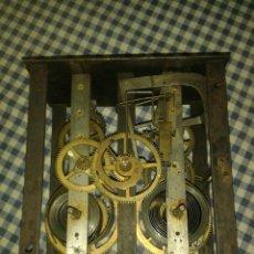 Recambios de relojes: MAQUINA RELOJ DE PARED OJO DE BUEY, RAREZA CON CUERDAS A LA VISTA. Lote 46451919